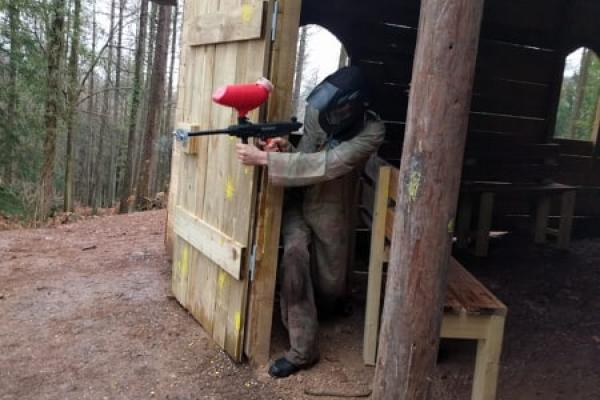 Church structure being used during airsoft game