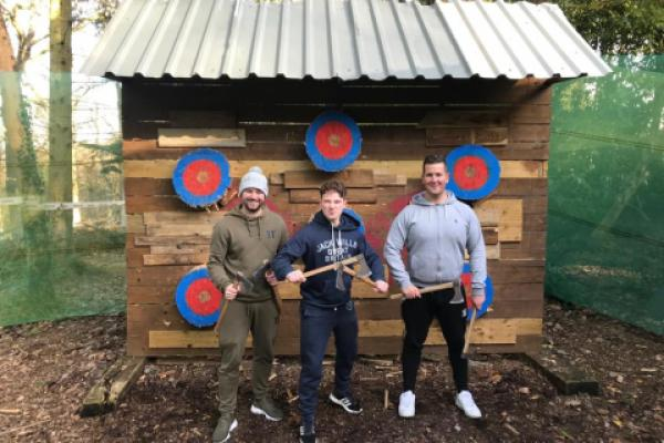 Team game at Axe Throwing